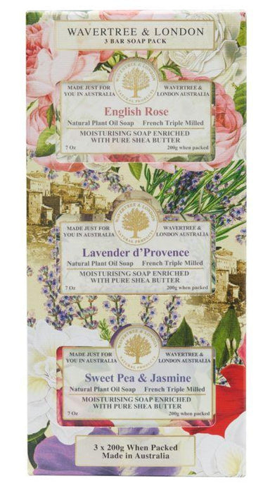 Trio Soap Gift Set Soaps Wavertree & London Default Set