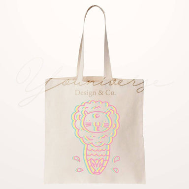 Trippy Merlion Totebag - Local Tote Bags - YOUNIVERSE DESIGN - Naiise