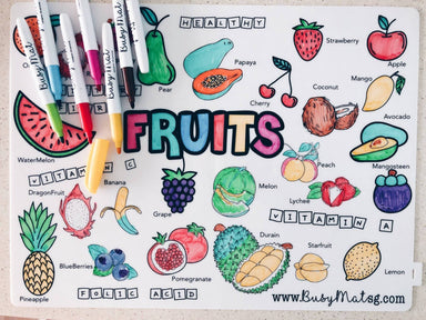 Tutti Frutti Busy Mat - Kids Activity Kits - Busy Mat - Naiise