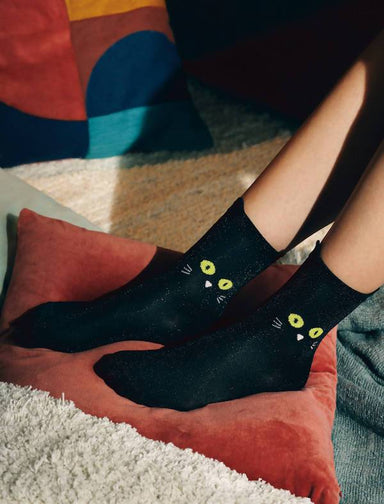 DOIY - Cat Socks (Black) - Socks - The Planet Collection - Naiise