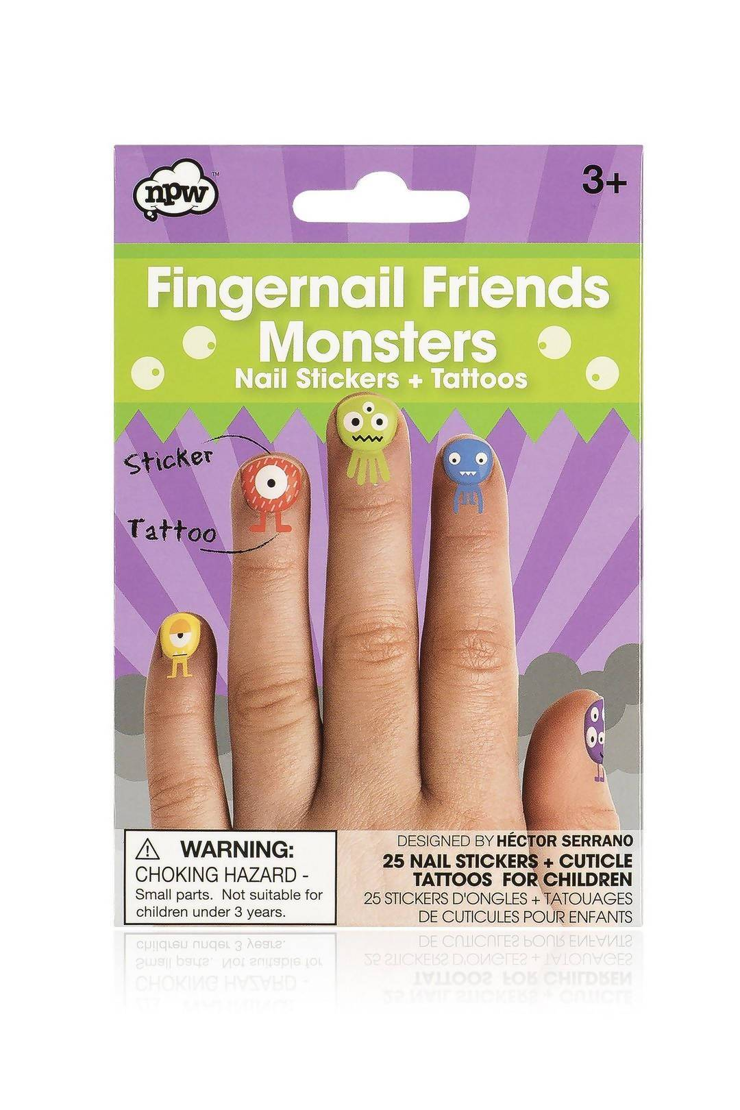 NPW - Fingernail Friends Monster - Nail Wraps - The Planet Collection - Naiise