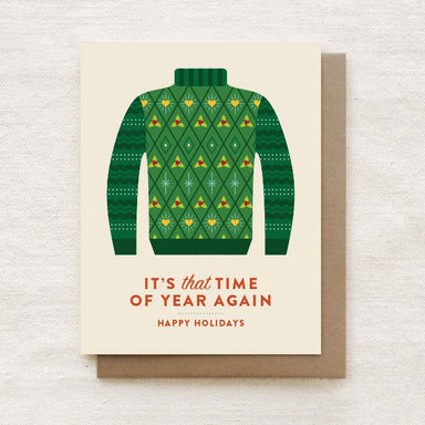 Ugly Christmas Turtleneck - Happy Holidays, Christmas Greeting Card Christmas Cards Quirky Paper Co.