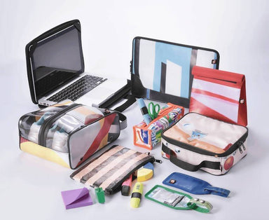 Upcycled Pencil Case - Square Workspace Tools The Java Eco Project