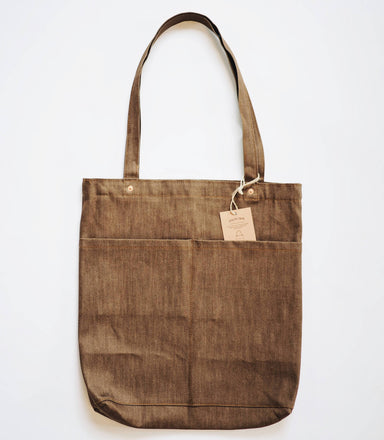 Utility Tote Bag V2 (12oz Coffee Denim) - Tote Bags - Journal Projects - Naiise