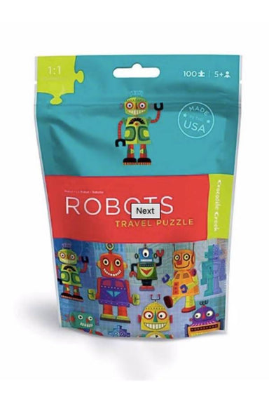 100-Pc Travel Puzzles Robot - Kids Puzzles - The Children's Showcase - Naiise