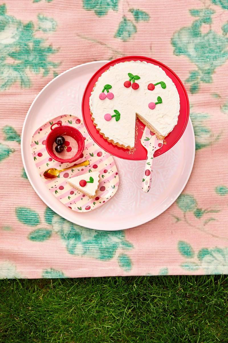 Melamine Rectangular Plate with Cherry Print - Kitchenware - The Children's Showcase - Naiise