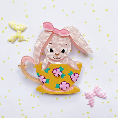 Kandie in a Teacup Brooch - Brooches - She Loves Blooms - Naiise