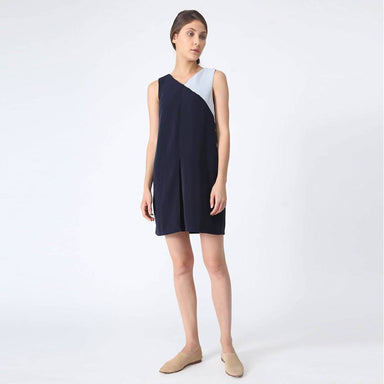 Vea Contrast Colour Dress in Poseidon Dresses Salient Label