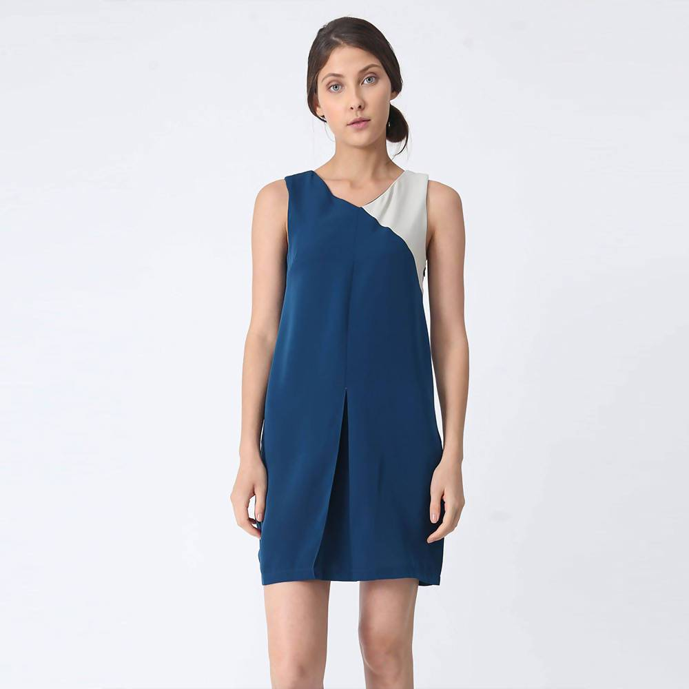 Vea Contrast Colour Dress in Turquoise - Dresses - Salient Label - Naiise