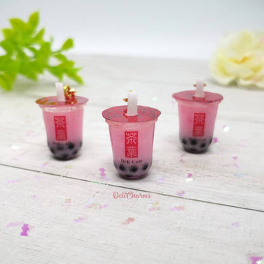 Strawberry Bubble Tea Charm - Charms - Deli Charms - Naiise