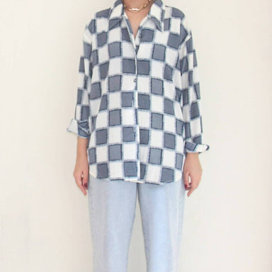 Vintage Criss Cross Blouse - Women's Tops - Lucky Chance - Naiise