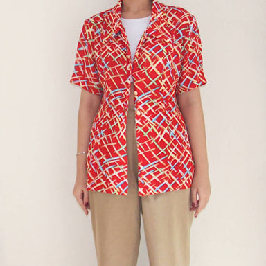 Vintage Crossed Wires Blouse - Women's Tops - Lucky Chance - Naiise