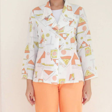 Vintage Funky Shapes Blouse - Women's Tops - Lucky Chance - Naiise