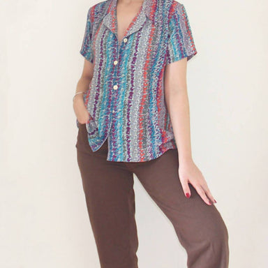 Vintage Mosaic Blouse - Women's Tops - Lucky Chance - Naiise