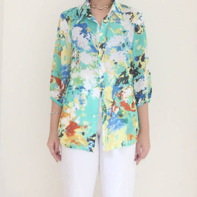Vintage Paint Splatter Blouse - Women's Tops - Lucky Chance - Naiise
