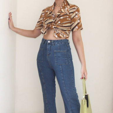 Vintage Retro 70s Blouse - Women's Tops - Lucky Chance - Naiise