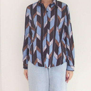 Vintage Retro Chevron Blouse - Women's Tops - Lucky Chance - Naiise