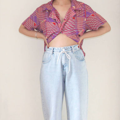 Vintage Vaporwave Blouse - Women's Tops - Lucky Chance - Naiise