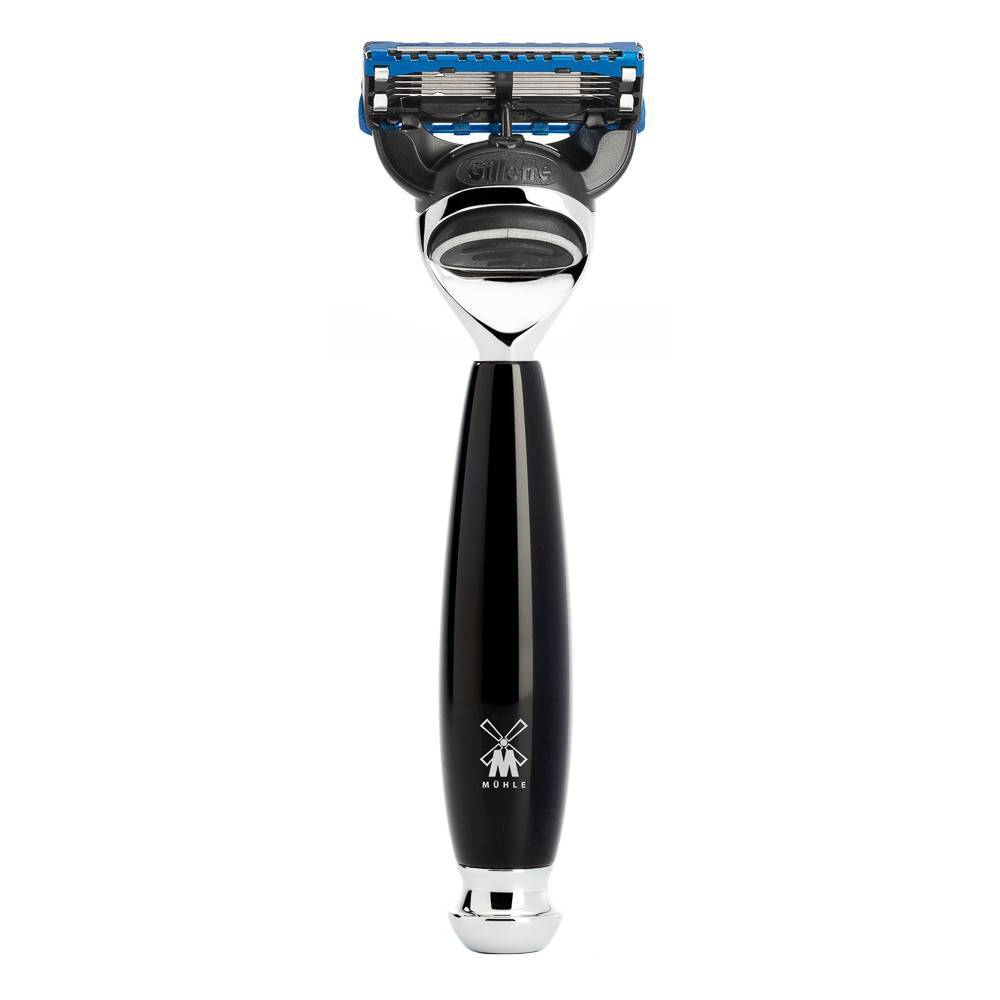 Vivo razor, black resin and Gillette Fusion blade - Safety Razor - MÜHLE Singapore - Naiise