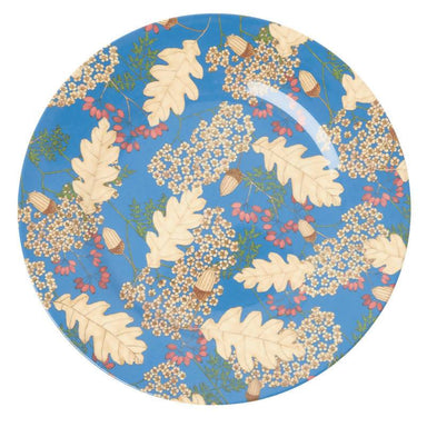 Melamine Dinner Plate with Autumn and Acorns Print Kitchenware The Children's Showcase