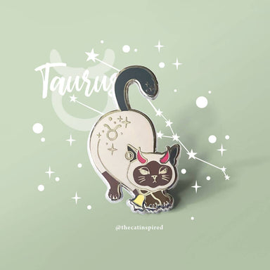 Taurus Pin - Brooches - The Cat Inspired - Naiise