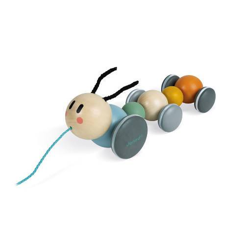 Sweet Cocoon Pull - Along Caterpillar Wooden Toy - Kids Toys - The Children's Showcase - Naiise