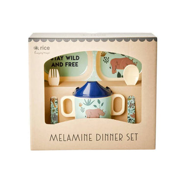 Melamine Baby Dinner Set in Gift Box - Jungle Animals - Kids Utensils - The Children's Showcase - Naiise