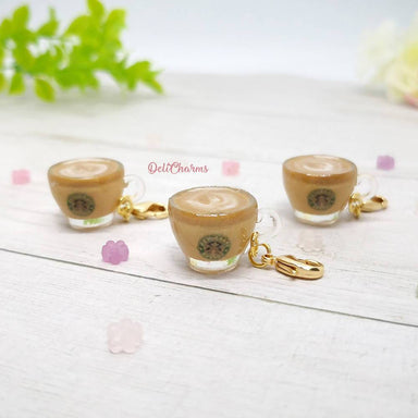 Miniature Coffee Latte Charm - Charms - Deli Charms - Naiise