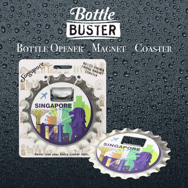 BOTTLE BUSTER - Best Bottle Opener : Merlion City - Bottle Openers - La Belle Collection - Naiise