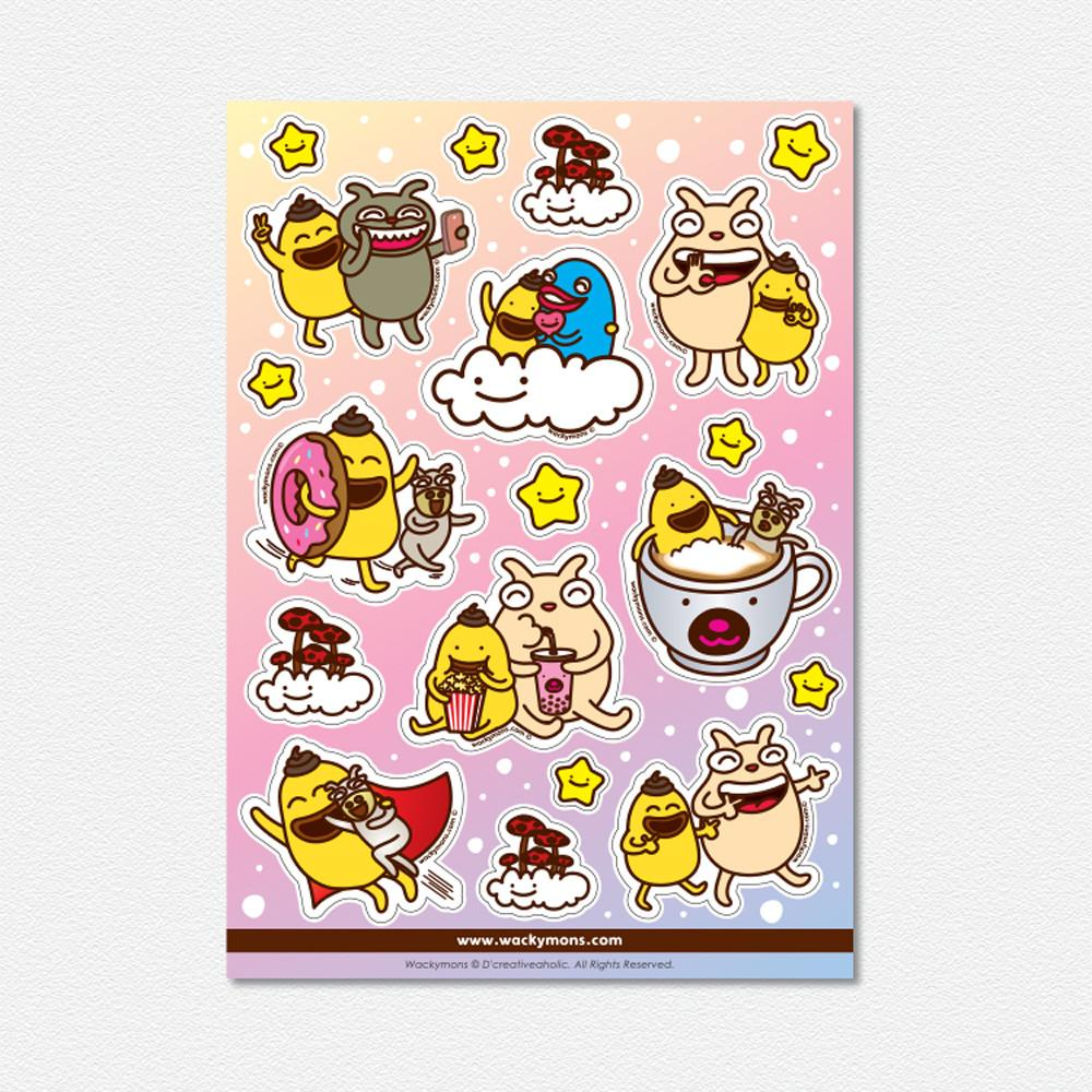 Wackymons Shiek & Friends Sticker - Stickers - Wackymons - Naiise