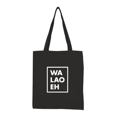 Walao Eh Tote Local Tote Bags Statement Black