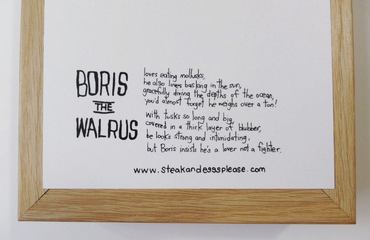 Walrus - Lovelove Postcard Postcards Steak & Eggs Please