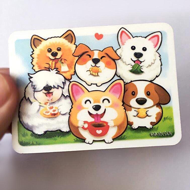 Wangderfood Dogs Fridge Magnet - Local Magnets - Lim Hang Kwong - Naiise