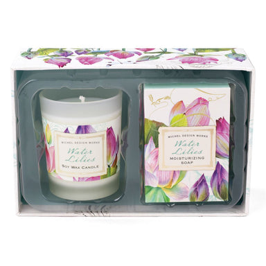 Water Lilies Candle & Soap Gift Set Gift Sets Michel Design Works
