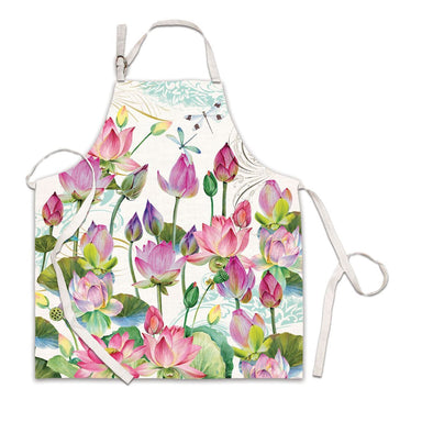 Water Lilies Chef Apron Aprons Michel Design Works
