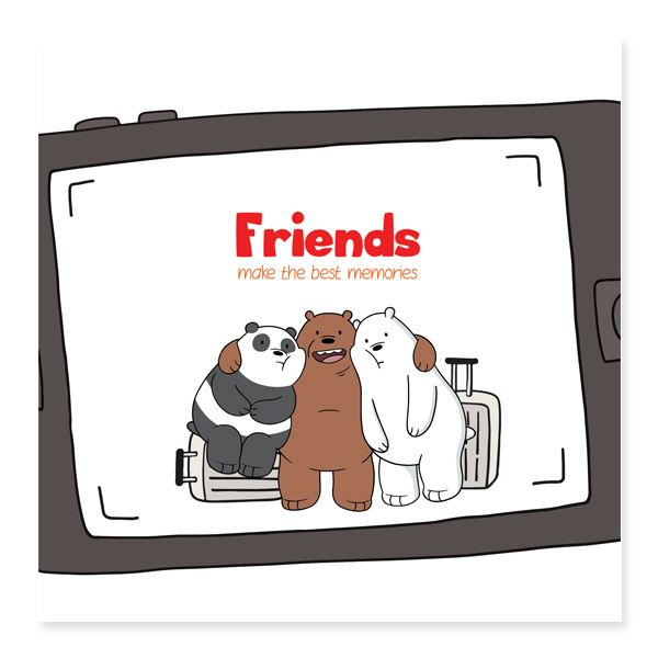 WBB - Friends Make The Best Memories Friendship Cards Glisterz