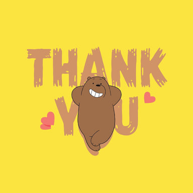 WBB - Grizzly Thank You Thank You Cards Glisterz