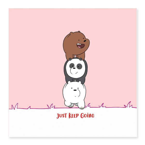 WBB - Just Keep Going Card Encouragement Cards Glisterz