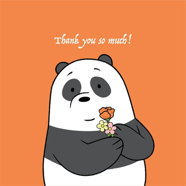 WBB - Panda Thank You So Much Thank You Cards Glisterz