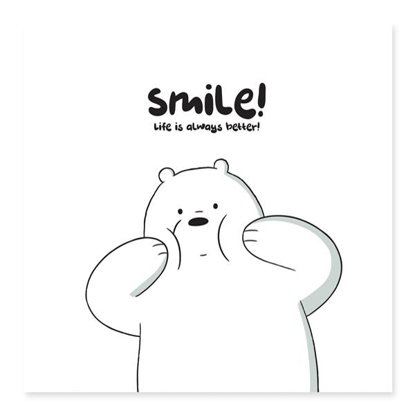WBB - Smile! Life Is Always Better Encouragement Cards Glisterz
