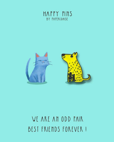 We Are An Odd Pair Best Friends Dog Enamel Pin - Pins - Paperdaise Accessories - Naiise