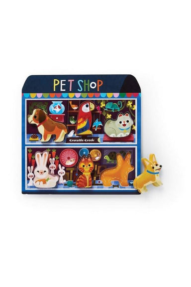 6 pc Wood Puzzle - Pet Shop Kids Puzzles The Children's Showcase