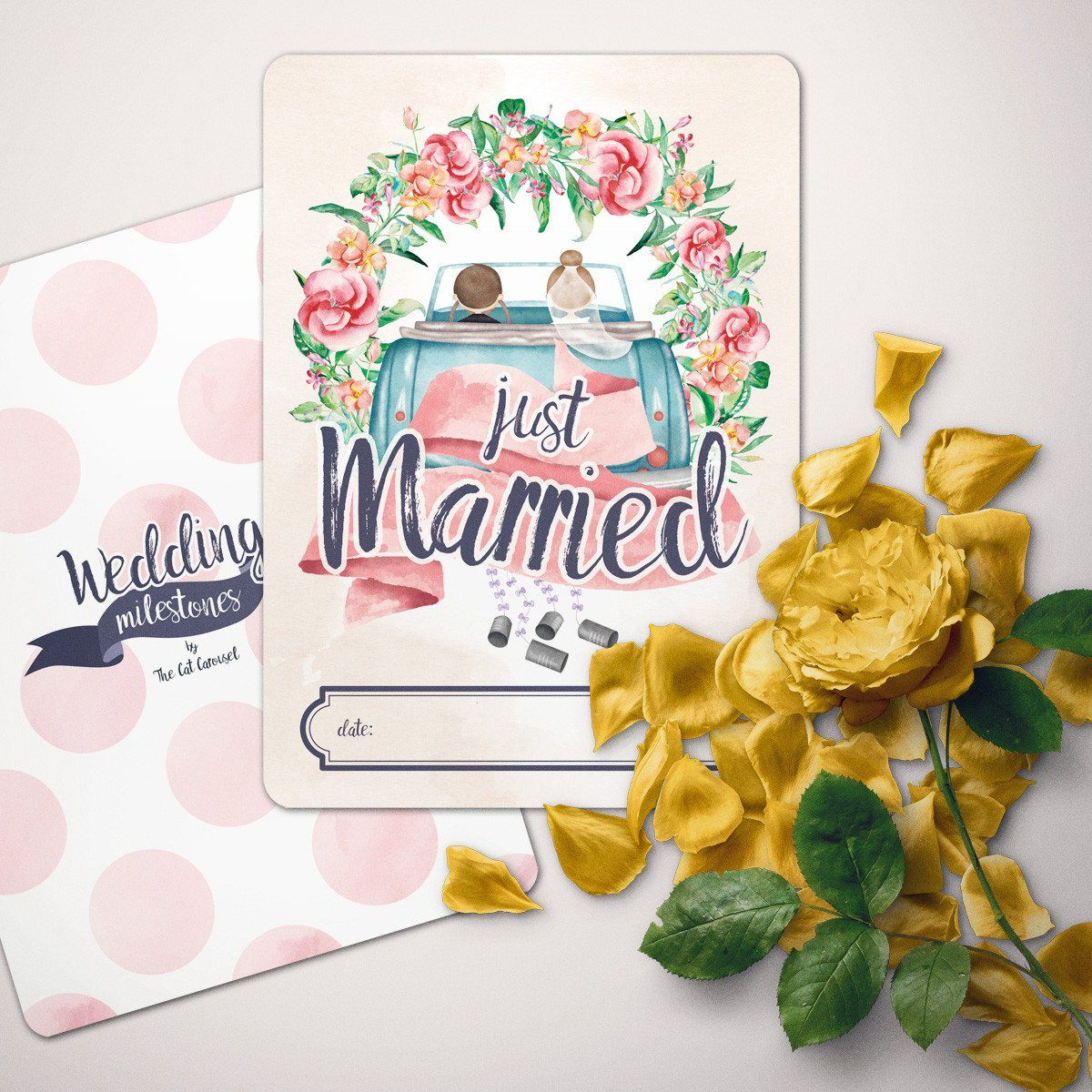Wedding Milestone Cards Wedding Cards The Cat Carousel