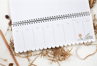 Weekly Planner -  Rabbit, Fox & Hydrangea - Planners - Whimsy Whimsical - Naiise
