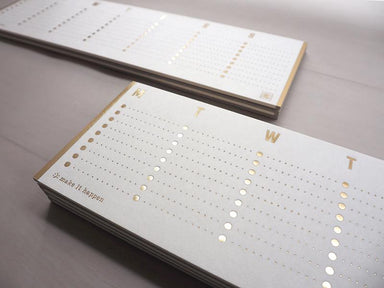 Weekly to-do list - hot foil gold (16weeks/sheets) Planners ditto ditto
