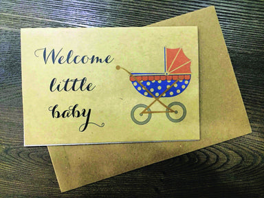 Welcome Little Baby Greeting Card - New Baby Cards - Papermix - Naiise