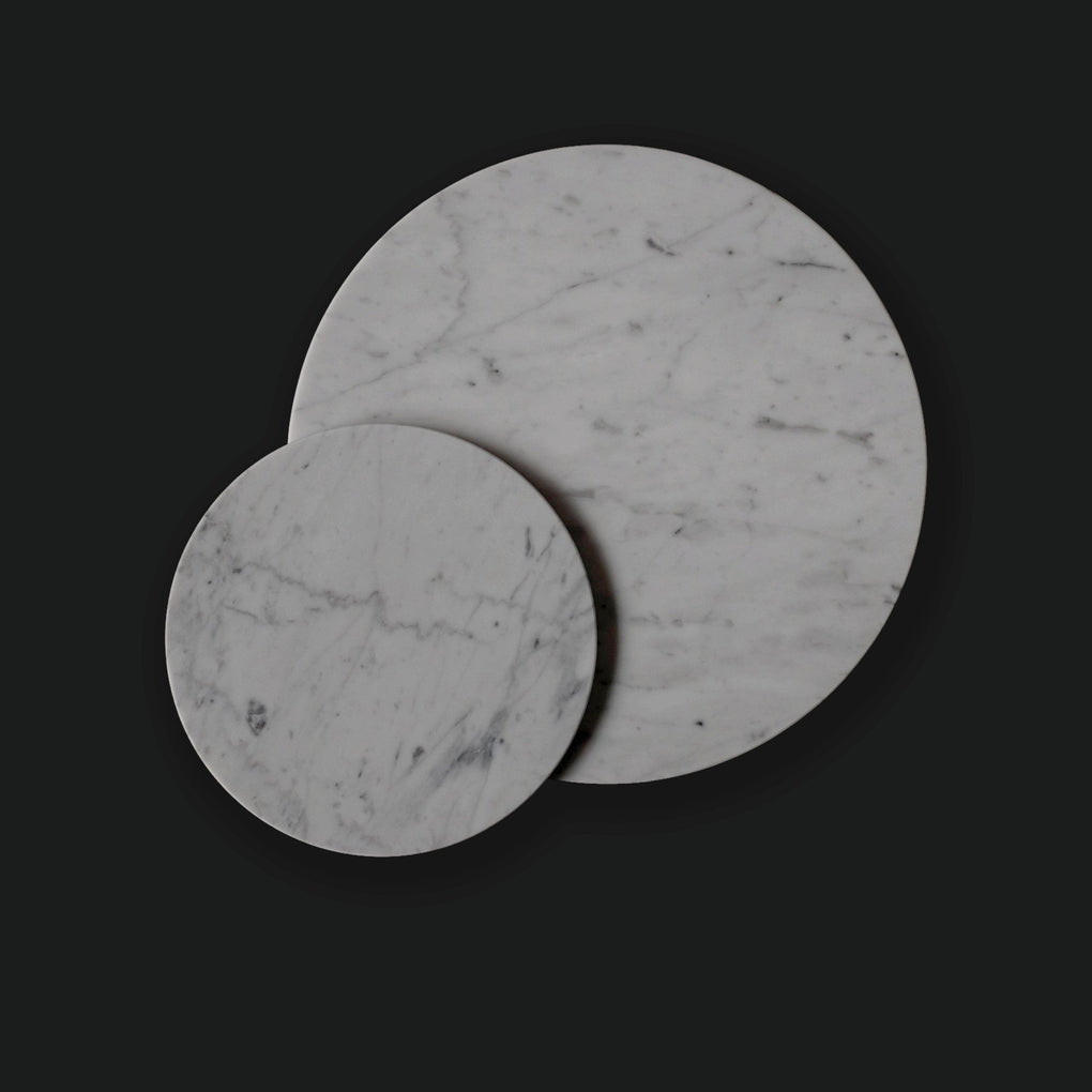 White Round Marble Board Home Decor Comme Home