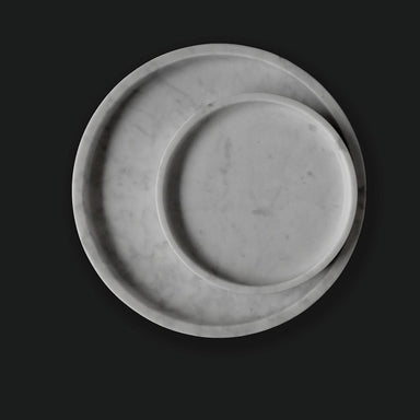 White Round Marble Tray - Home Decor - Comme Home - Naiise