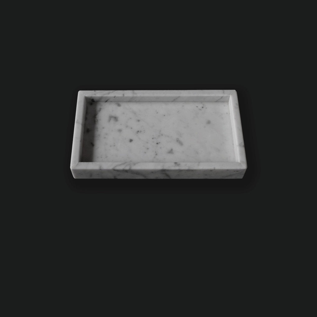 White Small Rectangular Marble Tray Home Decor Comme Home