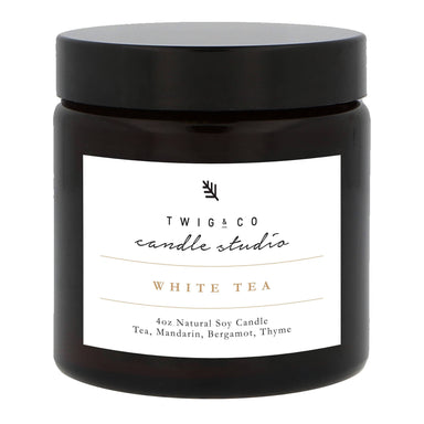 White Tea Candle Scented Candles Twig & Co
